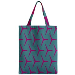 Pattern Background Structure Pink Zipper Classic Tote Bag