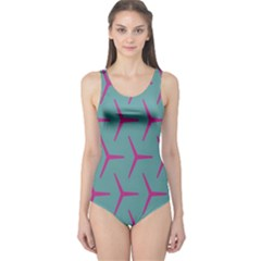 Pattern Background Structure Pink One Piece Swimsuit
