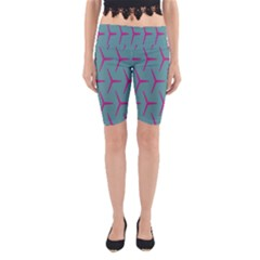 Pattern Background Structure Pink Yoga Cropped Leggings