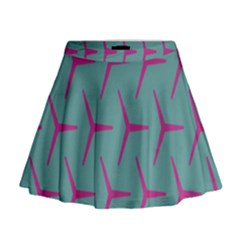 Pattern Background Structure Pink Mini Flare Skirt
