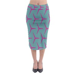 Pattern Background Structure Pink Midi Pencil Skirt
