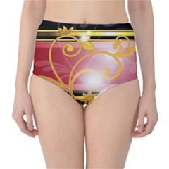 Pattern Vectors Illustration High-Waist Bikini Bottoms