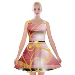 Pattern Vectors Illustration Velvet Skater Dress