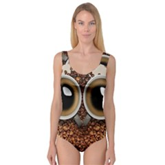 Owl Coffee Art Princess Tank Leotard