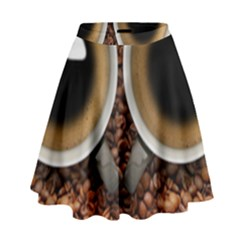 Owl Coffee Art High Waist Skirt