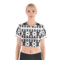 Pattern Background Texture Black Cotton Crop Top