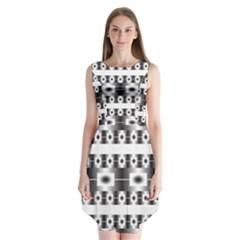 Pattern Background Texture Black Sleeveless Chiffon Dress