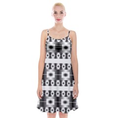 Pattern Background Texture Black Spaghetti Strap Velvet Dress