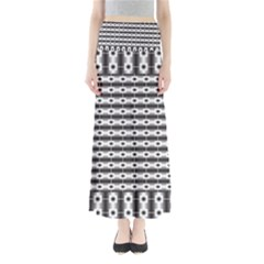 Pattern Background Texture Black Maxi Skirts