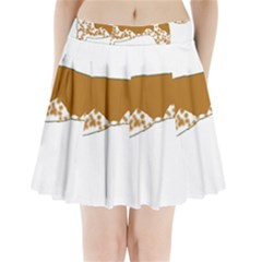 American English Coonhound Silo Color Pleated Mini Skirt
