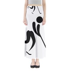 Ice Hockey Pictogram Maxi Skirts