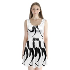 Ice Hockey Pictogram Split Back Mini Dress