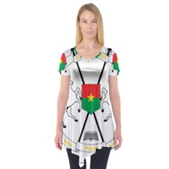 Coat of Arms of Burkina Faso Short Sleeve Tunic
