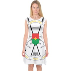 Coat of Arms of Burkina Faso Capsleeve Midi Dress