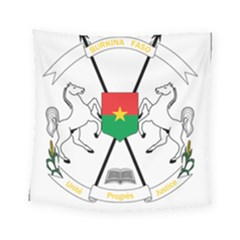 Coat Of Arms Of Burkina Faso Square Tapestry (small)