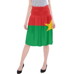 Flag of Burkina Faso Midi Beach Skirt