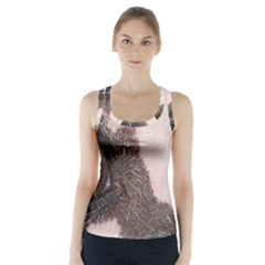 Chinese Crested Eyes Racer Back Sports Top