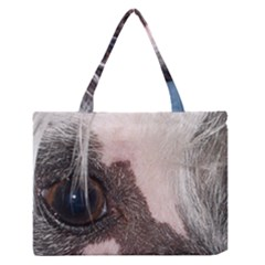 Chinese Crested Eyes Medium Zipper Tote Bag