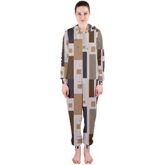 Pattern Wallpaper Patterns Abstract Hooded Jumpsuit (Ladies)