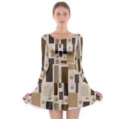 Pattern Wallpaper Patterns Abstract Long Sleeve Skater Dress