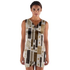 Pattern Wallpaper Patterns Abstract Wrap Front Bodycon Dress