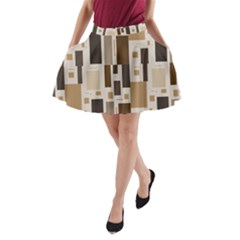 Pattern Wallpaper Patterns Abstract A-Line Pocket Skirt