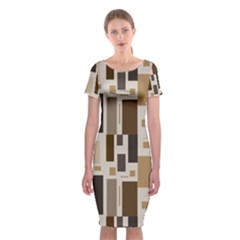 Pattern Wallpaper Patterns Abstract Classic Short Sleeve Midi Dress