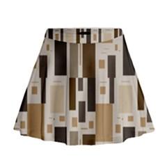 Pattern Wallpaper Patterns Abstract Mini Flare Skirt