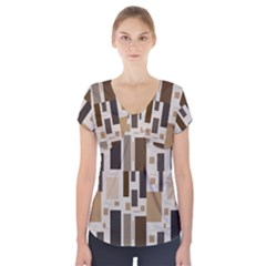Pattern Wallpaper Patterns Abstract Short Sleeve Front Detail Top