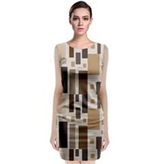 Pattern Wallpaper Patterns Abstract Sleeveless Velvet Midi Dress