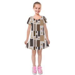 Pattern Wallpaper Patterns Abstract Kids  Short Sleeve Velvet Dress