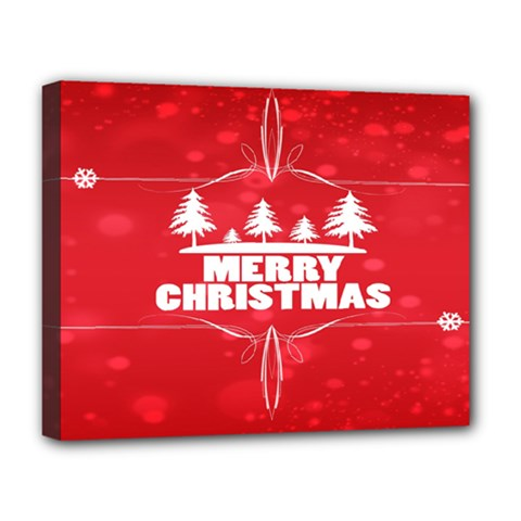 Red Bokeh Christmas Background Deluxe Canvas 20  x 16