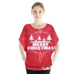 Red Bokeh Christmas Background Blouse