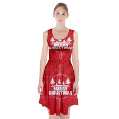 Red Bokeh Christmas Background Racerback Midi Dress