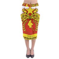 State Seal of Myanmar Midi Pencil Skirt