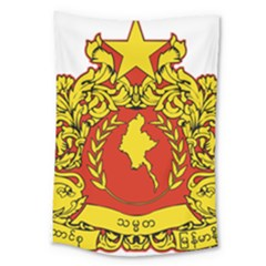 State Seal Of Myanmar Large Tapestry