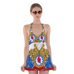State Seal of Burma, 1974-2008 Halter Swimsuit Dress