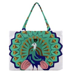 Burma Green Peacock National Symbol  Medium Zipper Tote Bag