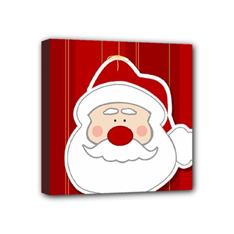 Santa Claus Xmas Christmas Mini Canvas 4  x 4