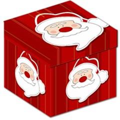 Santa Claus Xmas Christmas Storage Stool 12