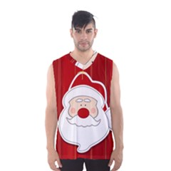 Santa Claus Xmas Christmas Men s Basketball Tank Top
