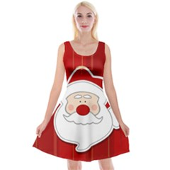 Santa Claus Xmas Christmas Reversible Velvet Sleeveless Dress