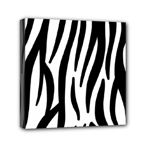 Seamless Zebra Pattern Mini Canvas 6  x 6