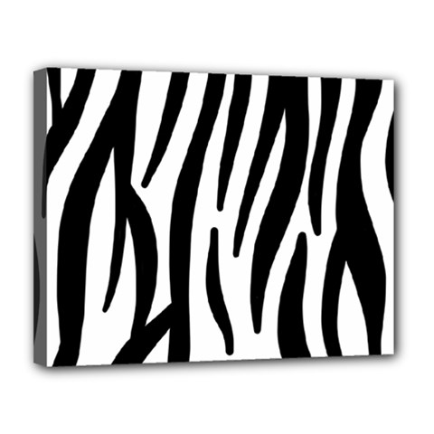 Seamless Zebra Pattern Canvas 14  x 11