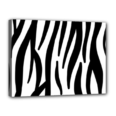 Seamless Zebra Pattern Canvas 16  x 12