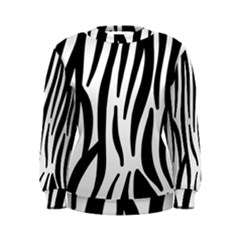 Seamless Zebra Pattern Women s Sweatshirt