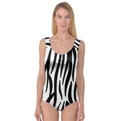 Seamless Zebra Pattern Princess Tank Leotard
