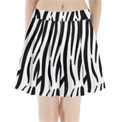 Seamless Zebra Pattern Pleated Mini Skirt