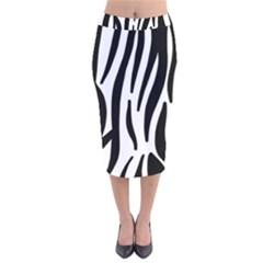 Seamless Zebra Pattern Velvet Midi Pencil Skirt