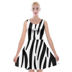 Seamless Zebra Pattern Velvet Skater Dress